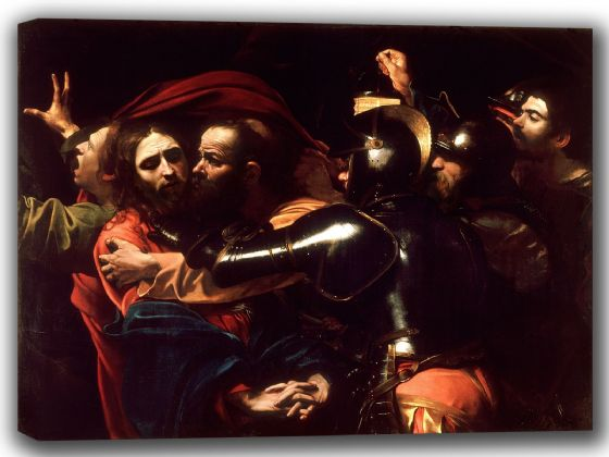 Caravaggio, Michelangelo Merisi da:  The Taking of Christ. Fine Art Canvas. Sizes: A4/A3/A2/A1 (002080)